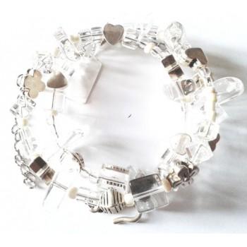 Bracelet multirang cristal de roche