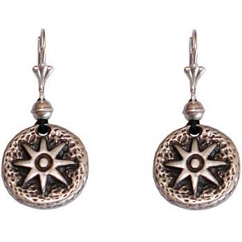 Boucles d'oreilles médaille Etoile