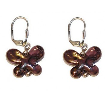Boucles d'oreilles en céramique forme papillon.